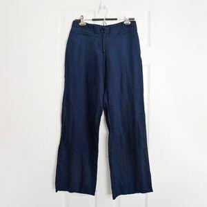 """LAPIS linen navy blue wide leg pants 29"""""""